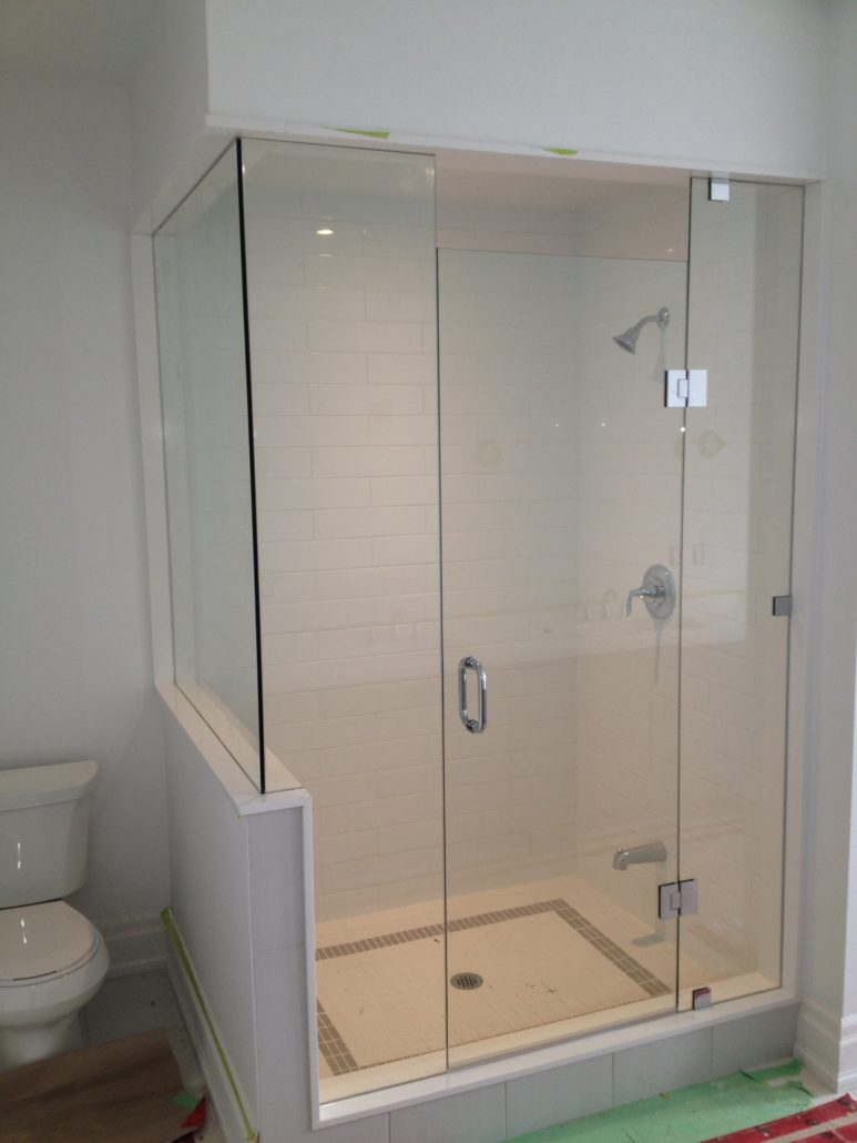 Half Shower Door. Simple Contour Corner Access Wf White Half Height ...